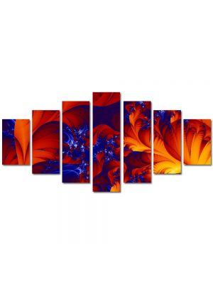 Set Tablouri Multicanvas 7 Piese Abstract Decorativ Petale
