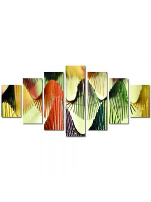 Set Tablouri Multicanvas 7 Piese Abstract Decorativ Corzi