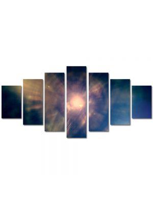 Set Tablouri Multicanvas 7 Piese Abstract Decorativ Centrul Universului