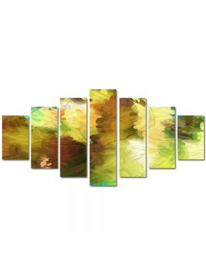 Set Tablouri Multicanvas 7 Piese Abstract Decorativ Dungi de pensula