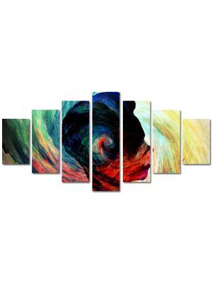 Set Tablouri Multicanvas 7 Piese Abstract Decorativ Silueta