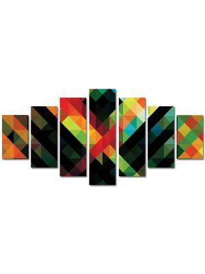 Set Tablouri Multicanvas 7 Piese Abstract Decorativ Amalgam