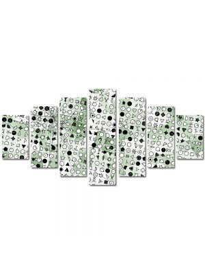 Set Tablouri Multicanvas 7 Piese Abstract Decorativ Forme