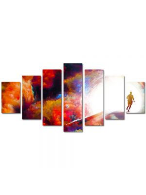 Set Tablouri Multicanvas 7 Piese Abstract Decorativ Fantastic