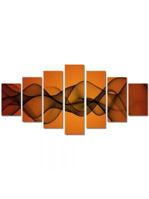 Set Tablouri Multicanvas 7 Piese Abstract Decorativ Unde de fum