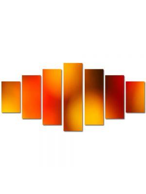 Set Tablouri Multicanvas 7 Piese Abstract Decorativ Caldura