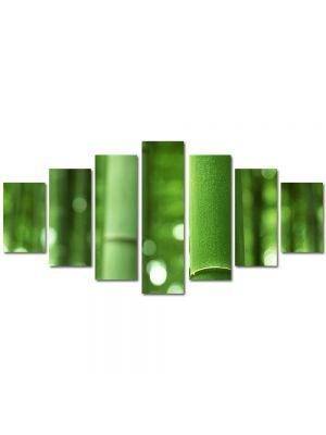 Set Tablouri Multicanvas 7 Piese Abstract Decorativ Bambus verde