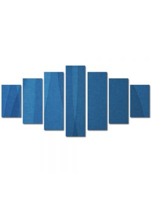 Set Tablouri Multicanvas 7 Piese Abstract Decorativ Unduire de matase
