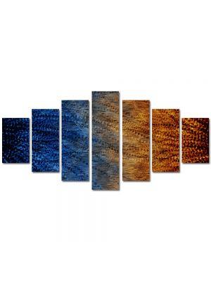 Set Tablouri Multicanvas 7 Piese Abstract Decorativ Pana de paun