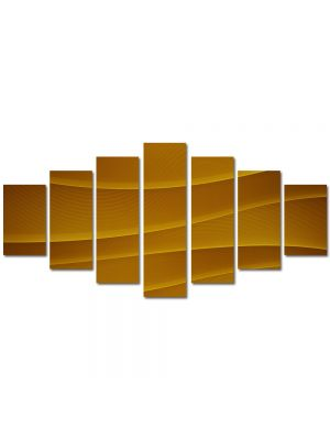 Set Tablouri Multicanvas 7 Piese Abstract Decorativ Dealuri portocalii