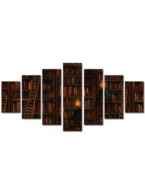 Set Tablouri Multicanvas 7 Piese Abstract Decorativ Biblioteca