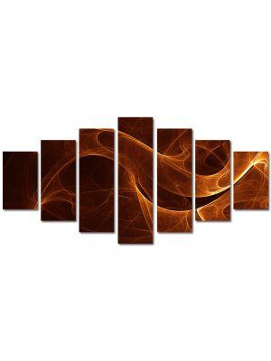 Set Tablouri Multicanvas 7 Piese Abstract Decorativ Sarpe de foc