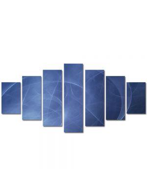 Set Tablouri Multicanvas 7 Piese Abstract Decorativ Unde