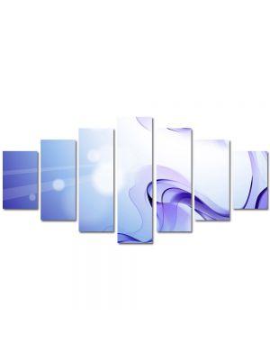 Set Tablouri Multicanvas 7 Piese Abstract Decorativ Fum violet
