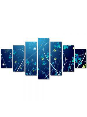 Set Tablouri Multicanvas 7 Piese Abstract Decorativ Plante abstracte