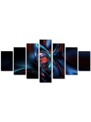 Set Tablouri Multicanvas 7 Piese Abstract Decorativ Nava spatiala