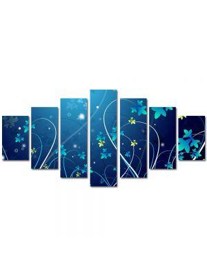 Set Tablouri Multicanvas 7 Piese Abstract Decorativ Flori