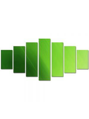 Set Tablouri Multicanvas 7 Piese Abstract Decorativ Verde