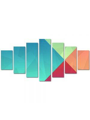 Set Tablouri Multicanvas 7 Piese Abstract Decorativ Patru culori