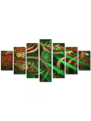 Set Tablouri Multicanvas 7 Piese Abstract Decorativ Colaj