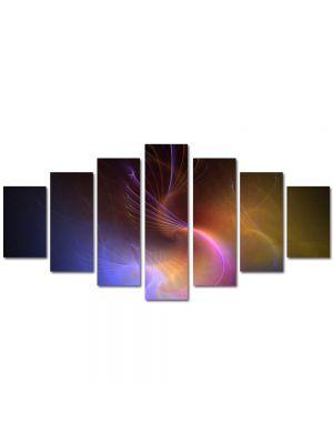 Set Tablouri Multicanvas 7 Piese Abstract Decorativ In spatiu