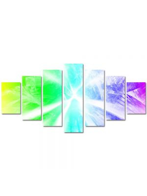 Set Tablouri Multicanvas 7 Piese Abstract Decorativ Raze de lumina
