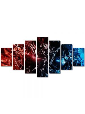 Set Tablouri Multicanvas 7 Piese Abstract Decorativ Foc si gheata