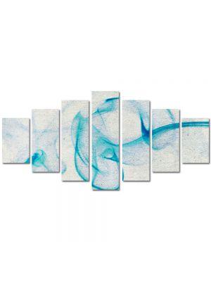 Set Tablouri Multicanvas 7 Piese Abstract Decorativ Fum bleu