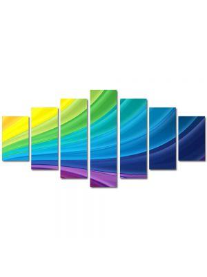 Set Tablouri Multicanvas 7 Piese Abstract Decorativ Spectru luminos