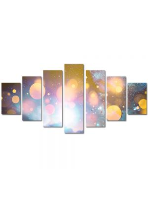 Set Tablouri Multicanvas 7 Piese Abstract Decorativ Energii portocalii