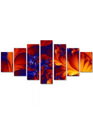 Set Tablouri Multicanvas 7 Piese Abstract Decorativ Frunze exotice