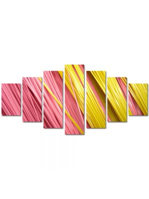 Set Tablouri Multicanvas 7 Piese Abstract Decorativ Paste