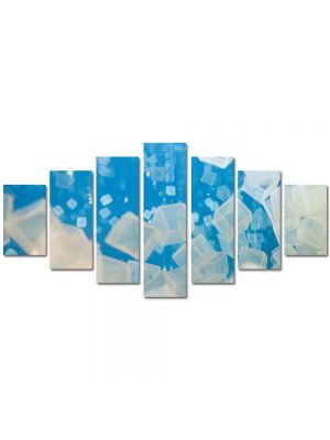 Set Tablouri Multicanvas 7 Piese Abstract Decorativ Cuburi de gheata