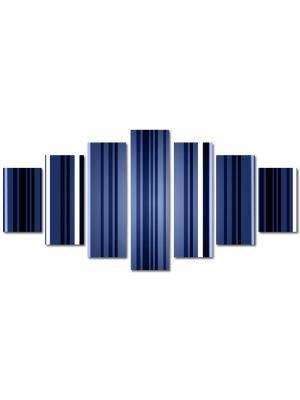 Set Tablouri Multicanvas 7 Piese Abstract Decorativ Dungi verticale
