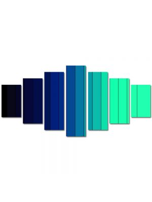 Set Tablouri Multicanvas 7 Piese Abstract Decorativ Dungi albastre