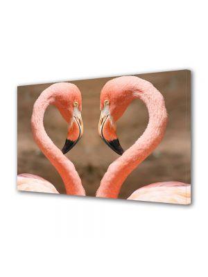 Tablou Canvas Luminos in intuneric VarioView LED Animale Pasari Flamingo