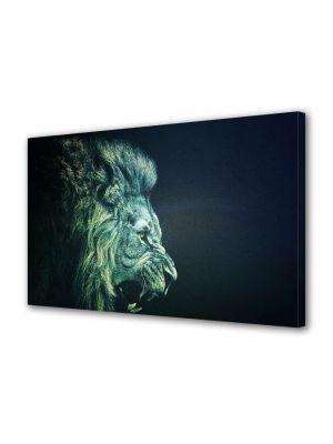 Tablou Canvas Luminos in intuneric VarioView LED Animale Leu stilizat