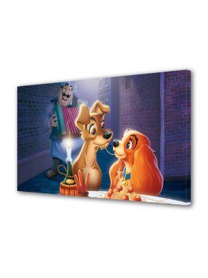 Tablou VarioView LED Animatie pentru copii Disney Doamna si Vagabondul