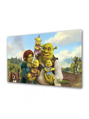 Tablou VarioView MoonLight Fosforescent Luminos in intuneric Animatie pentru copii Shrek, Fiona si copiii