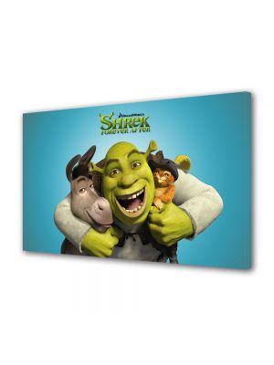 Tablou Canvas pentru Copii Animatie Shrek si Motanul Incaltat