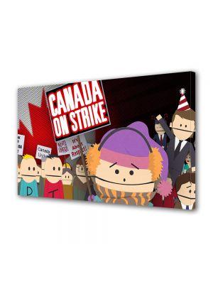 Tablou Canvas pentru Copii Animatie South Park Canada on Strike