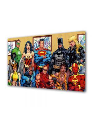 Tablou Canvas pentru Copii Animatie DC Comics Superheroes