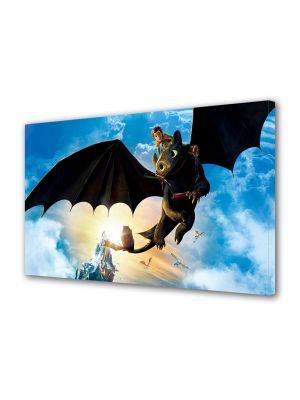 Tablou Canvas pentru Copii Animatie Hiccup and Toothless