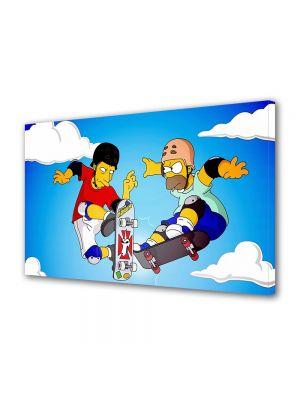 Tablou VarioView MoonLight Fosforescent Luminos in intuneric Animatie pentru copii Homer and Tony Hawk