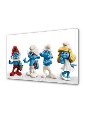 Tablou Canvas pentru Copii Animatie Strumfii de jucarie