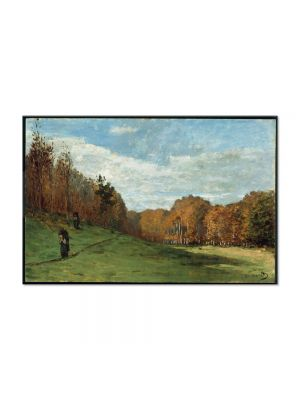 Tablou Arta Clasica Pictor Claude Monet Woodbearers in Fontainebleau Forest 1864 80 x 120 cm