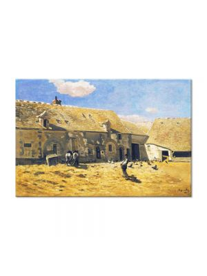 Tablou Arta Clasica Pictor Claude Monet Farmyard at Chailly 1865 80 x 120 cm