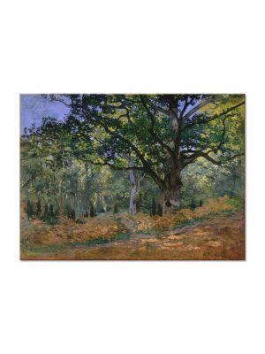 Tablou Arta Clasica Pictor Claude Monet The Bodmer Oak, Fontainebleau 1865 80 x 110 cm