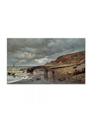 Tablou Arta Clasica Pictor Claude Monet The Headland of the Heve at Low Tide 1865 80 x 140 cm