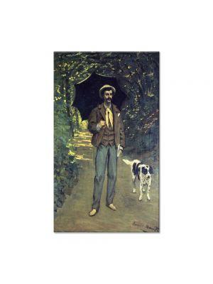 Tablou Arta Clasica Pictor Claude Monet Victor Jacquemont Holding a Parasol 1865 80 x 120 cm